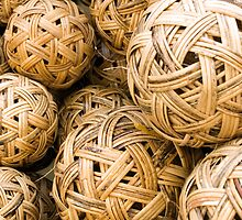Takraw balls by Juha Sompinmäki