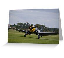 fg-1d corsir landing at shoreham  Greeting Card