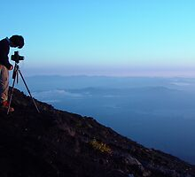 Capturing the sunrise on Mount Fuji by Lauren Glover