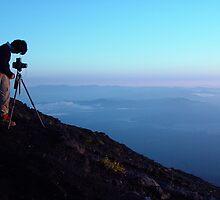 Capturing the sunrise on Mount Fuji by Lauren Glover