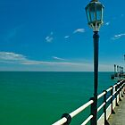 The Pier Over The Green Sea And Under The Blue Sky by nedals71