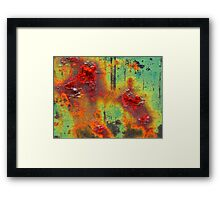 Colours of a Rusty Sign Framed Print