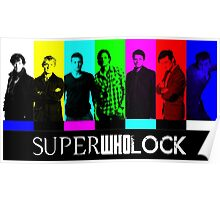 SuperWhoLock TV Color Screen Poster