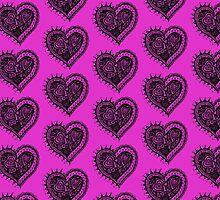 Valentine Heart 2 Aussie Tangle Alternate Duvet Image by Heatherian