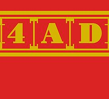 4AD Records logo (gold) by Magnus556