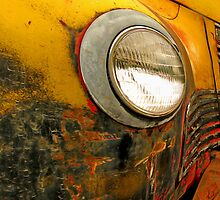 Yellow Truck & Headlight by Ron Day