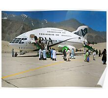 Pakistani Interstellar Airlines Arriving at The Moon Of Gilgit Prime in the Ashad Constellation Poster
