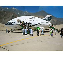 Pakistani Interstellar Airlines Arriving at The Moon Of Gilgit Prime in the Ashad Constellation Photographic Print