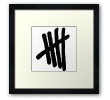 5SOS Logo (Black on White) Framed Print