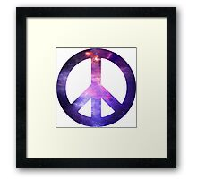 Peace Sign Galaxy Framed Print