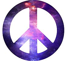 Peace Sign Galaxy Photographic Print
