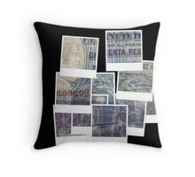 Foriegn banknote Throw Pillow
