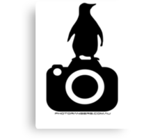 Photo Rangers Penguin TShirt Canvas Print