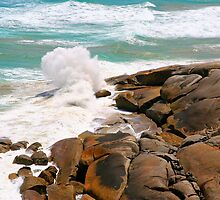 Waves at Norman Bay by Dave Law