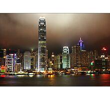 Hong Kong Island at night Photographic Print