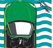 Honda Delsol Towel inspired - Samba Green by WinkArt