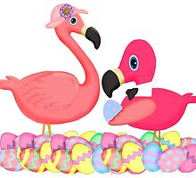 Pink Flamingos Easter by BeachBumFamily