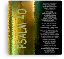 Psalm 40 Canvas Print