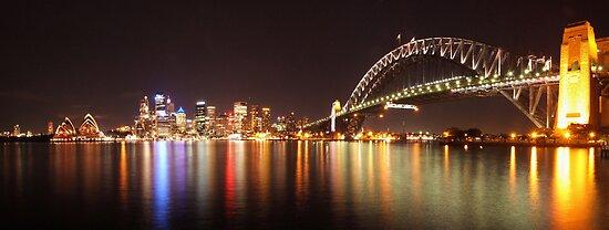 Sydney Harbour By Night by Zaven Jordan