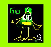 Collectable! GO DUCKS abstract, funny but not, really sorry prints by ackelly4