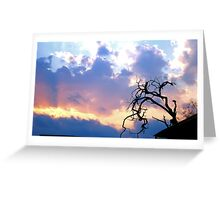 THE LONELY SILHOUETTE Greeting Card