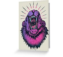 Alpha Lion Alert for Fight Greeting Card