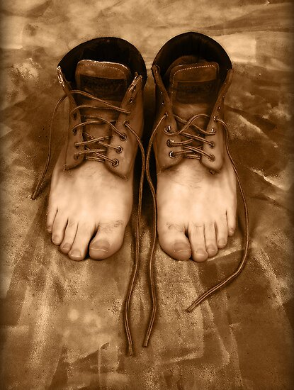 Feet Shoe by Joseph Darmenia