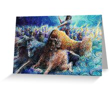 Pictish charge Greeting Card