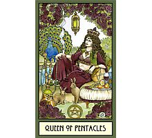 Queen of Pentacles, Card Photographic Print
