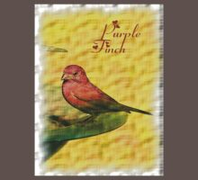 PURPLE FINCH tee by Dayonda
