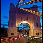 Walter Taylor Bridge - Indooroopilly.  Brisbane, Queensland. by Peter Ford