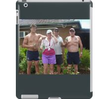 *Time for a beer after 3 hours hard work* iPad Case/Skin