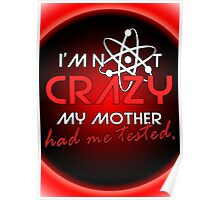 I'not crazy my mother had me tested-Sheldon Poster