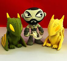 Khal & The Dragons by FendekNaughton