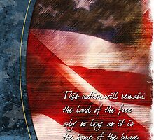 Aged Flag2-Thank You by William Martin