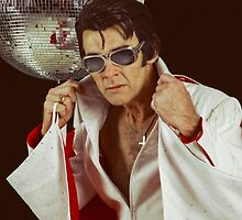 Elvis and the disco ball by Mel Brackstone
