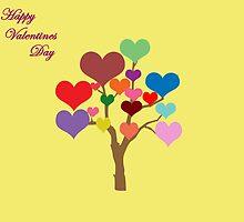 Tree of Hearts (Happy Valentines) by CreativeEm