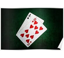 Blackjack 21 point - Ace, Ten Poster