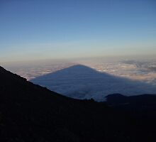 Dawn shadow of Mt Meru cast across the roof of cloud base by KidA