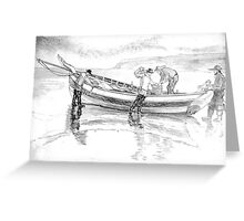 1900s Fishing Coble Greeting Card