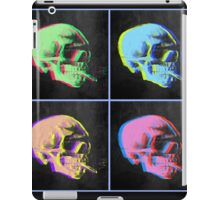 Van Gogh Skull with burning cigarette remixed set of 4 iPad Case/Skin