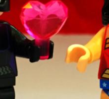 Catwoman & Wonder Woman Valentines Sticker