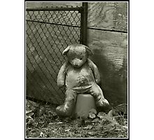Neglected Teddy Photographic Print