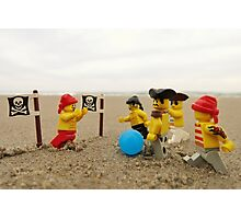 Pirate Soccer Photographic Print