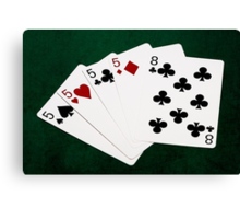 Poker Hands - Four Of A Kind - Fives and Eight Canvas Print