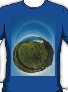 Kinnagoe Bay (as a floating green planet) T-Shirt