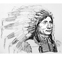 Native American War Bonnet Photographic Print