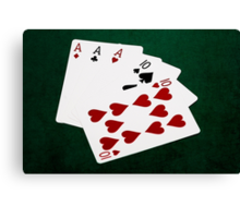 Poker Hands - Full House - Ace and Ten Canvas Print