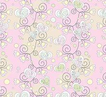 SALE!!! Romantic pink hearts! by Vitalia