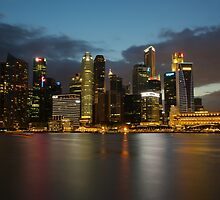 Singapore Skyline on the Sky by tpixx